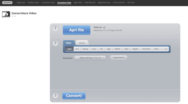 Convertitore Video di 123apps