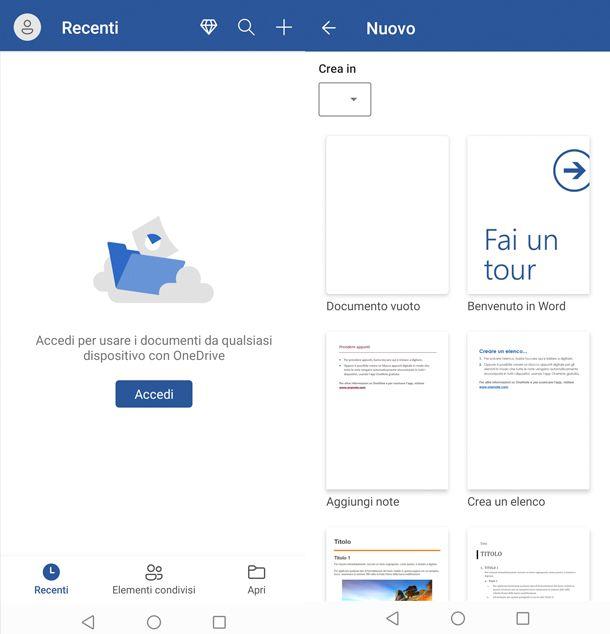 App per scrivere Microsoft Word