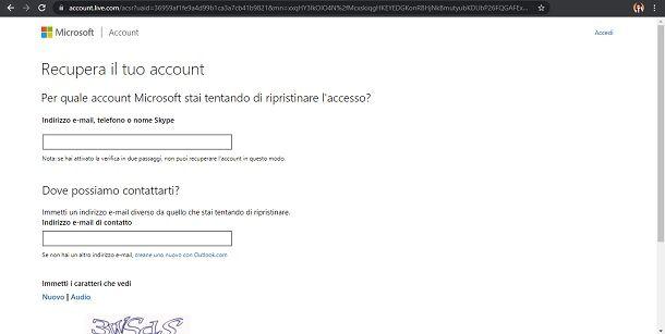 Come recuperare password email