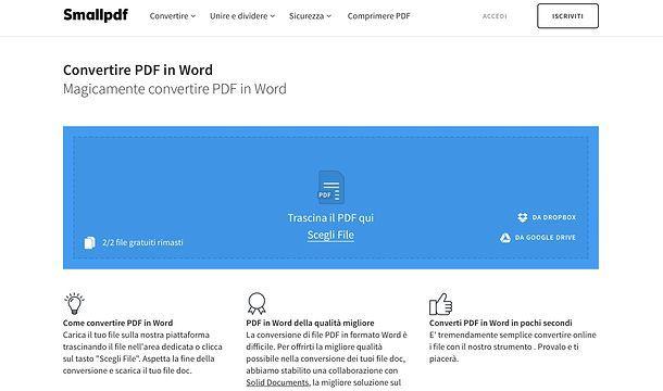 Come inserire PDF in Word