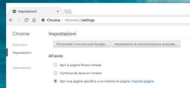 Come cambiare account Google
