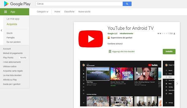Aggiornare altre app YouTube