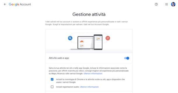 Gestione attività Google