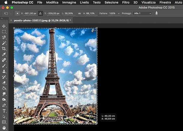 Come ridimensionare un'immagine con Photoshop