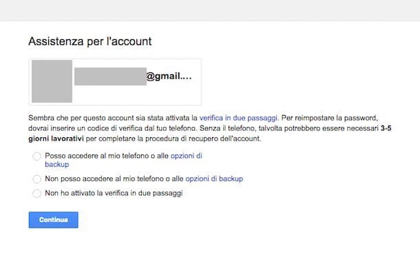 Come recuperare password email