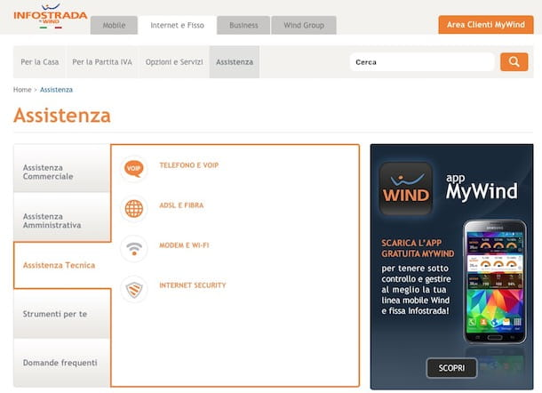 Come registrare ADSL Infostrada