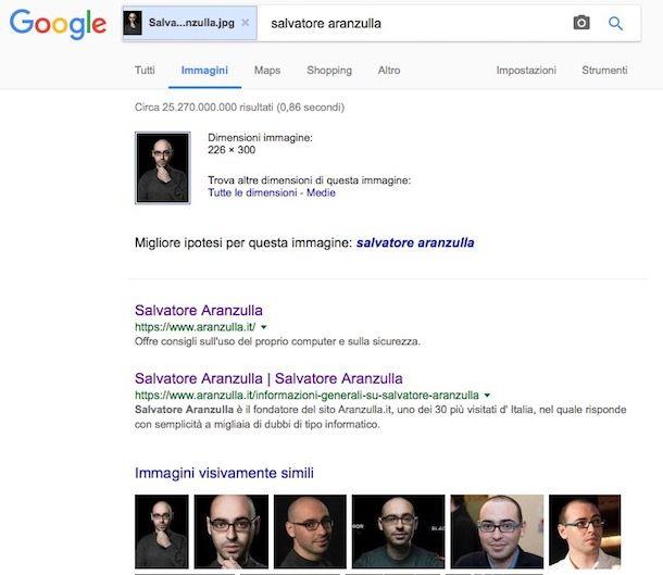 Come cercare immagini simili