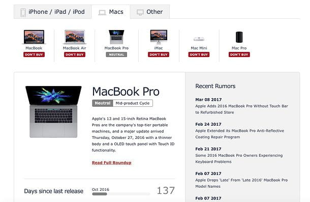Quale MacBook scegliere