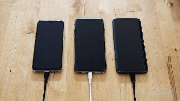 Come caricare il cellulare via cavo