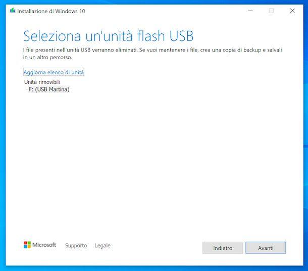 Come scaricare Windows 10 gratis su USB