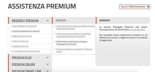 Come ricaricare Mediaset Premium