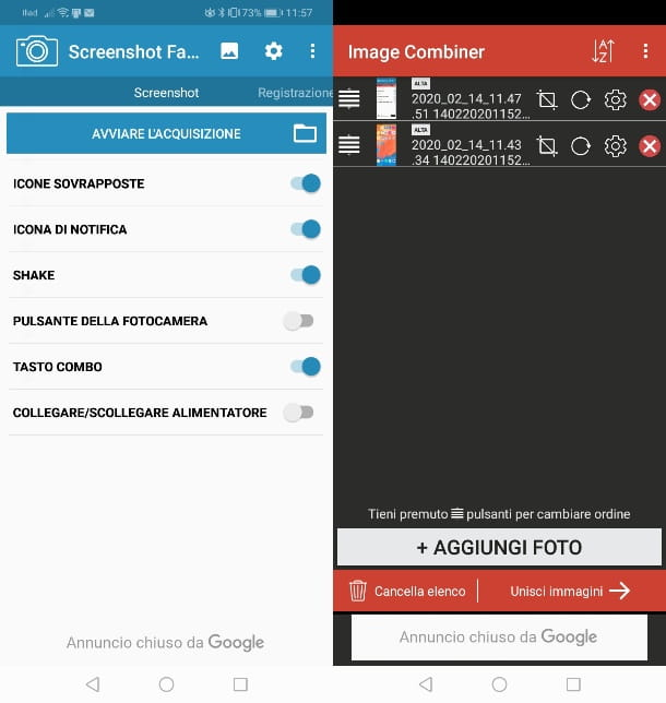 App per screen su Huawei