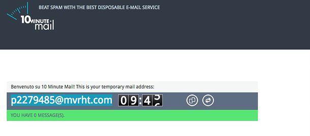 Email temporanea