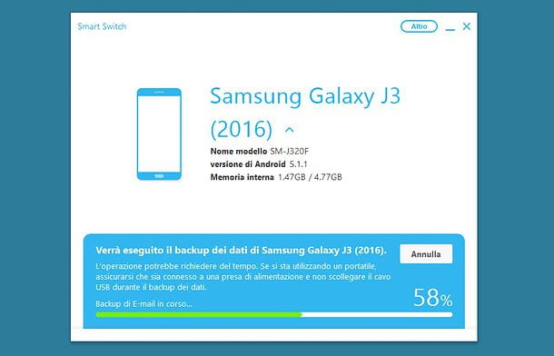 Come aggiornare Samsung