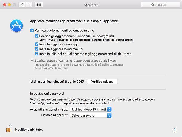 Come aggiornare Mac