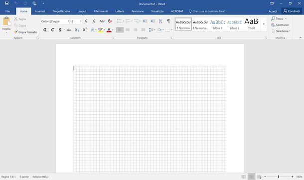 Come quadrettare un foglio di Word