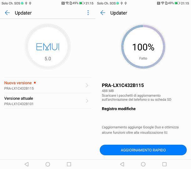 Come aggiornare Huawei