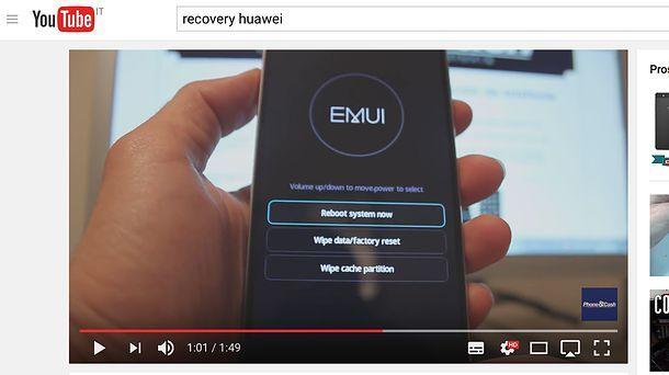 Come resettare Huawei