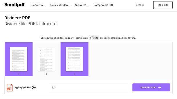 Come cancellare pagine PDF