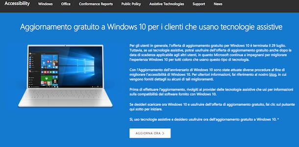 Come aggiornare Windows 10 gratis