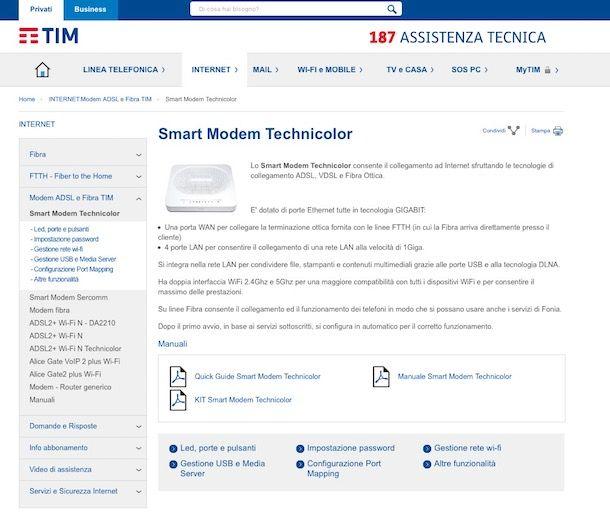 Come configurare modem TIM