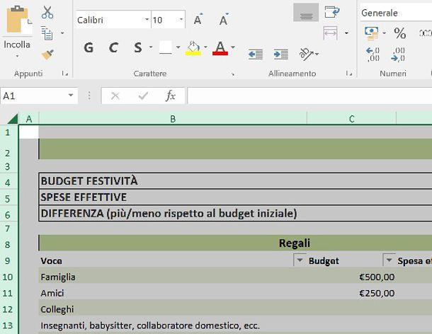 Come inserire tabella Excel in Word