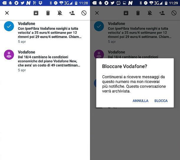 Come bloccare SMS Android
