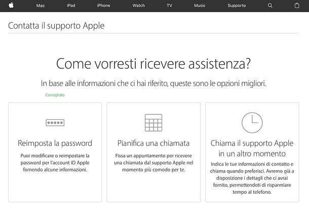 Come riabilitare ID Apple