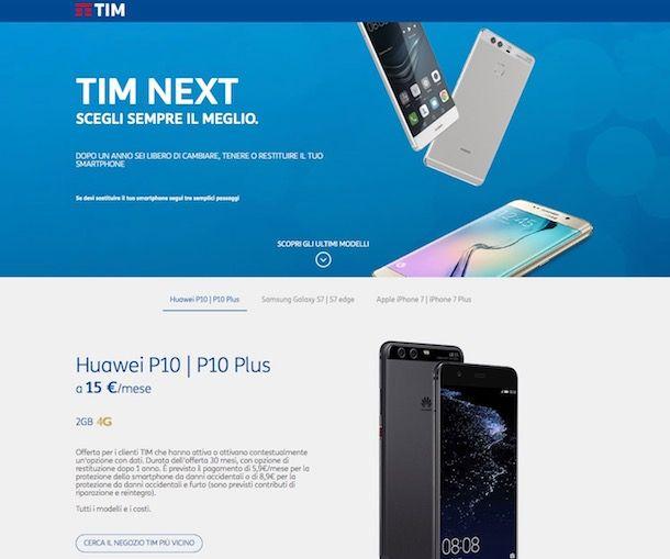 Offerte TIM con telefono