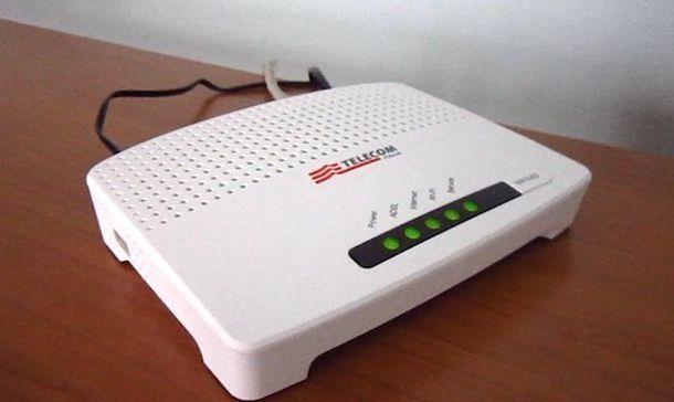 Come gestire modem Telecom