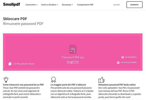 Come modificare un PDF protetto