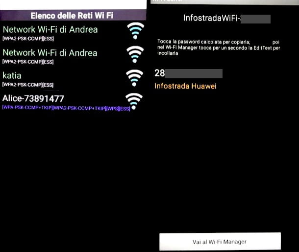 Recuperare password WiFi su smartphone e tablet