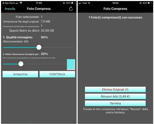 Come ridurre dimensioni foto: iPad e iPhone