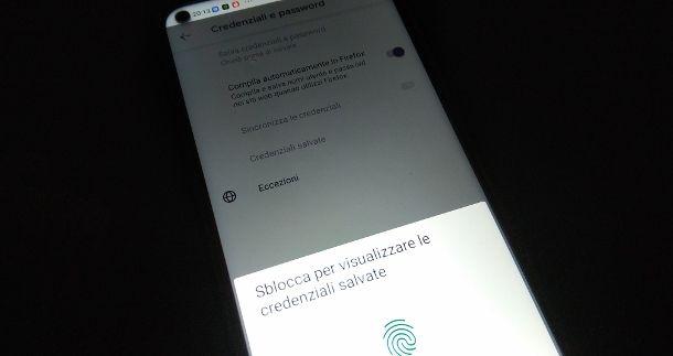 Recuperare password Firefox app