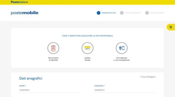 Attivare PosteMobile online