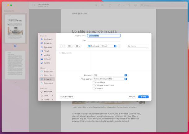 Anteprima compressione PDF