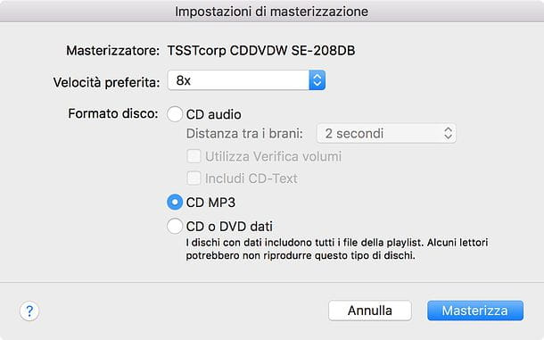 Programma per masterizzare CD MP3