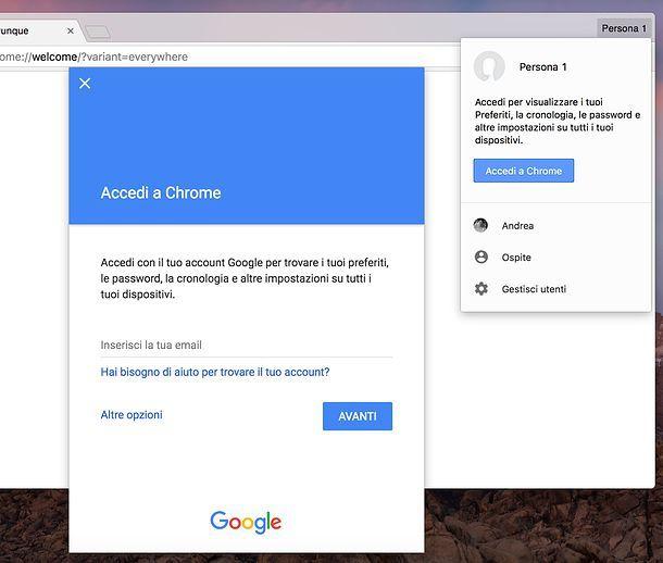 Come memorizzare password su Google Chrome