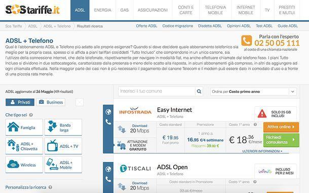 Offerte ADSL e telefono fisso