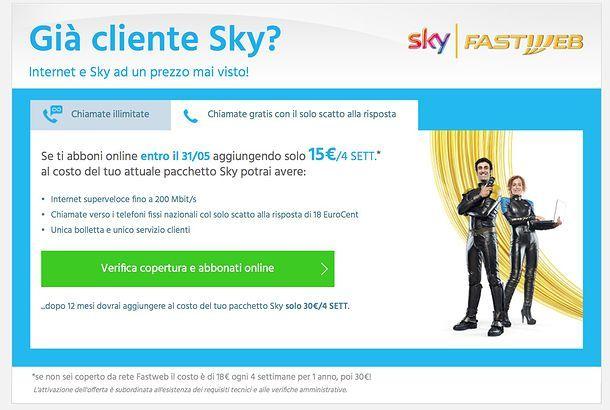 Offerte Sky e Fastweb