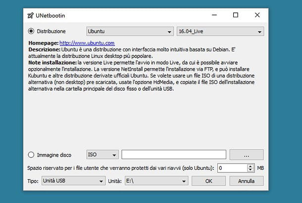 Come creare chiavetta USB avviabile