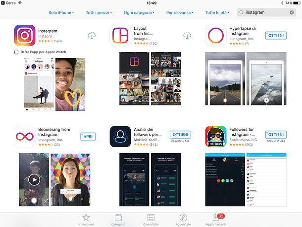 Come pubblicare foto su Instagram da tablet