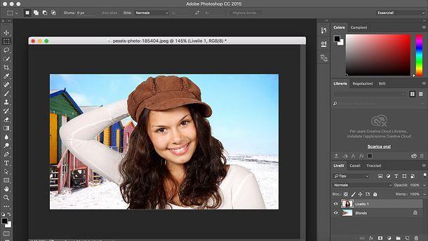Come sovrapporre due immagini con Photoshop