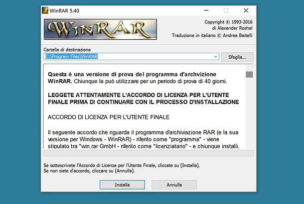 Come zippare un file con WinRAR