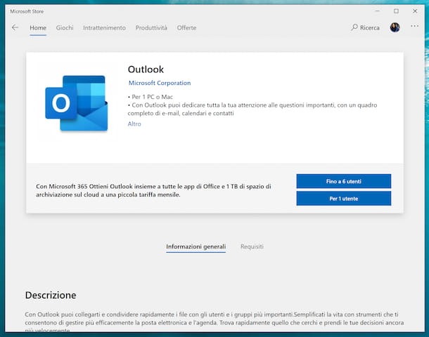 Outlook Microsoft Store