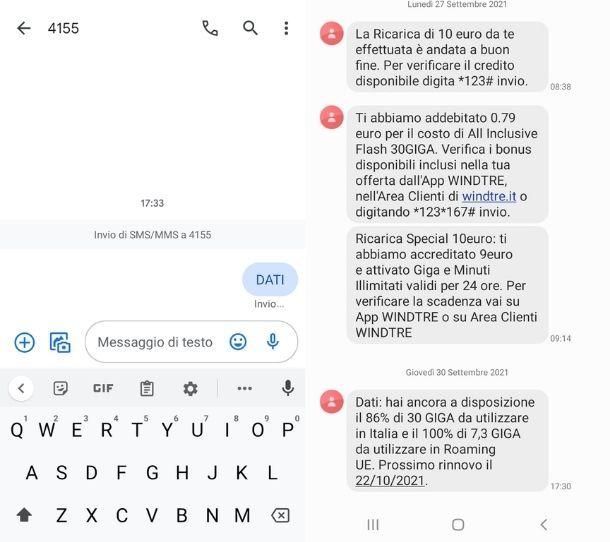Giga WINDTRE SMS