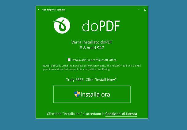 Come creare PDF