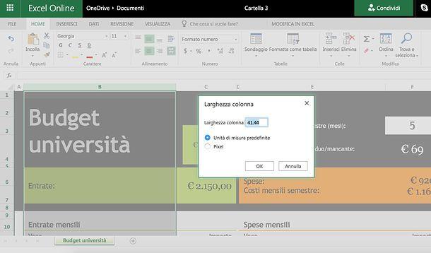 Come adattare le celle di Excel al contenuto