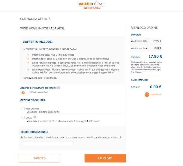 Offerte Infostrada ADSL