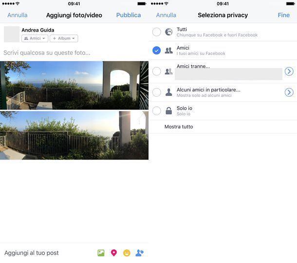 Come nascondere foto su Facebook